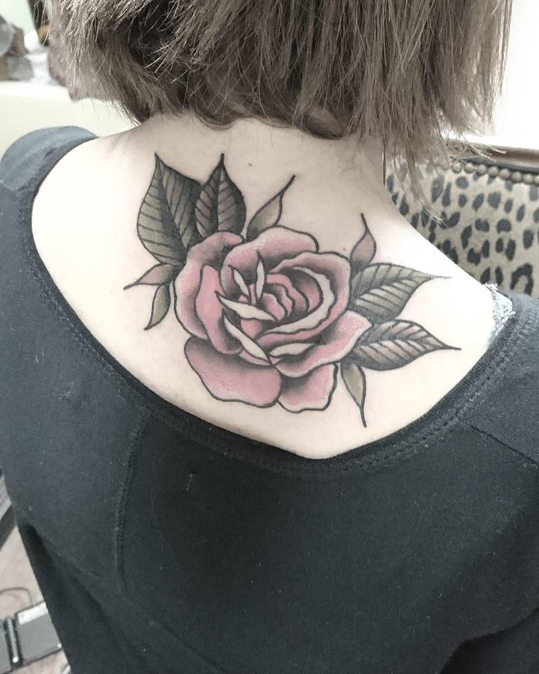 Rose Tattoo Neck Back Design Lava360 Tattoos Pinterest
