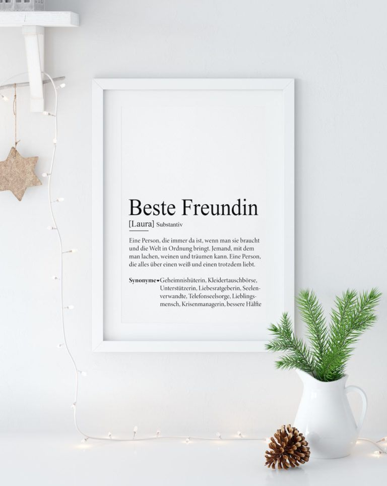 Definition Weihnachten.Beste Freundin Definition Geschenk Weihnachten Basteln