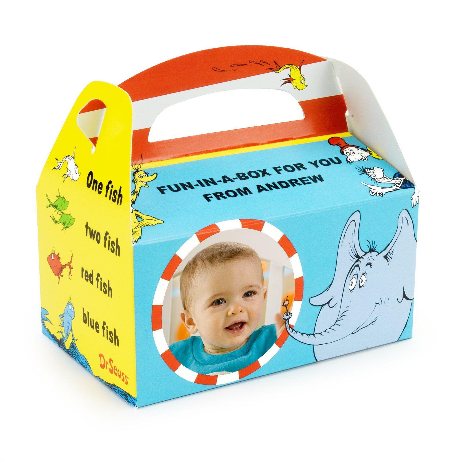 Dr. Seuss 1st Birthday Personalized Empty Favor Boxes