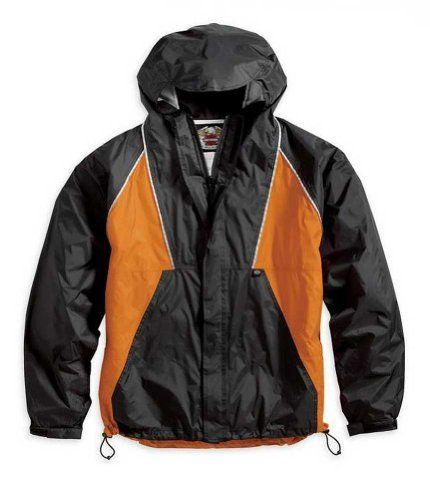 Harley Davidson Men S Canal Street Rain Suit Rainwear Black Orange 98246 06vm Http Www Beststreetstyle Com Harley Best Rain Jacket Rain Suit Mens Jackets