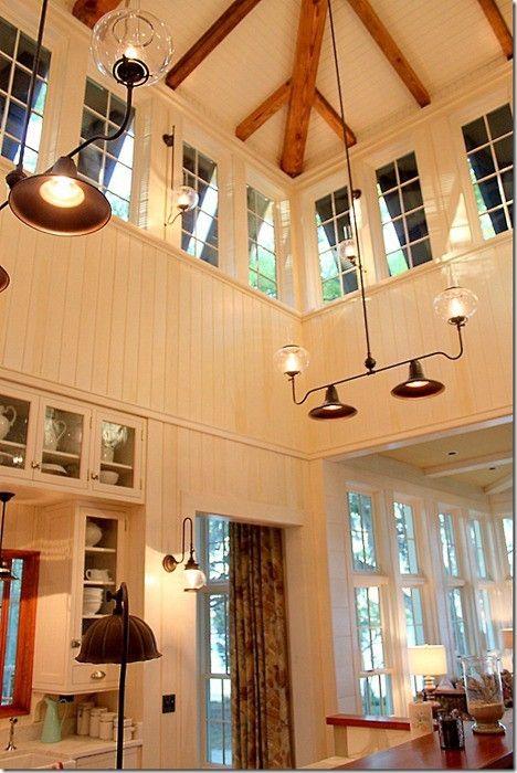 Techos a doble altura ideas para aprovecharlos lamparas - Lamparas para techos altos ...