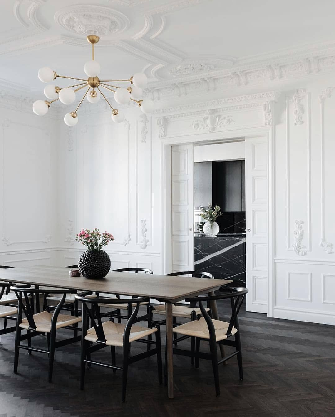 Designed By Christinaboutza For Her Swedish Home Interior Design Dining Room Design Dining Room Inspiration