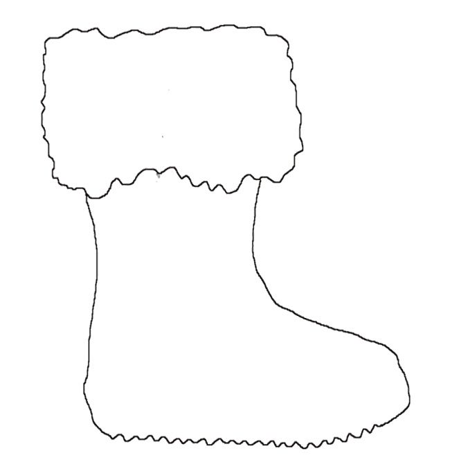 winter boot santa coloring page