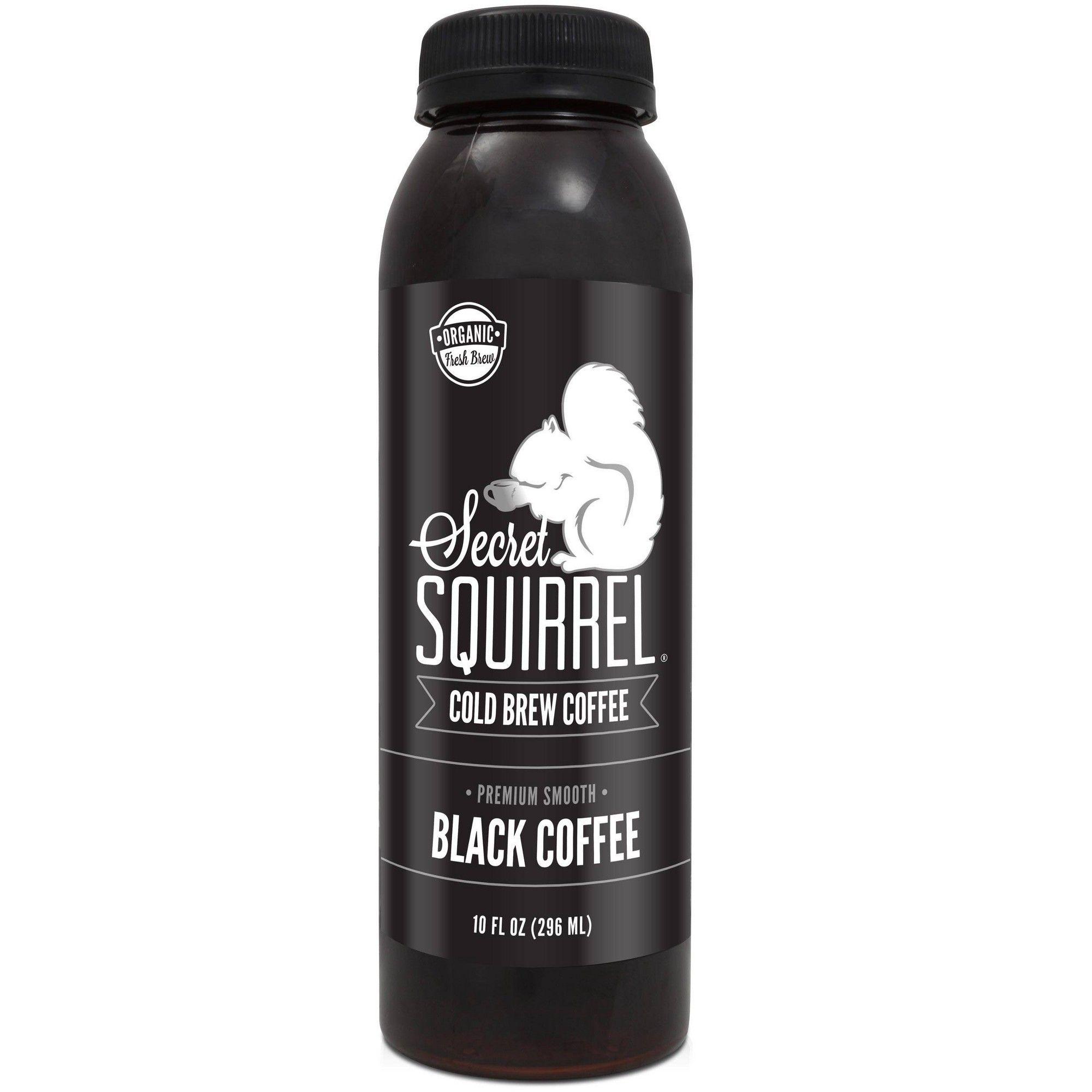 Secret Squirrel Black Cold Brew Coffee 10 fl oz Cold