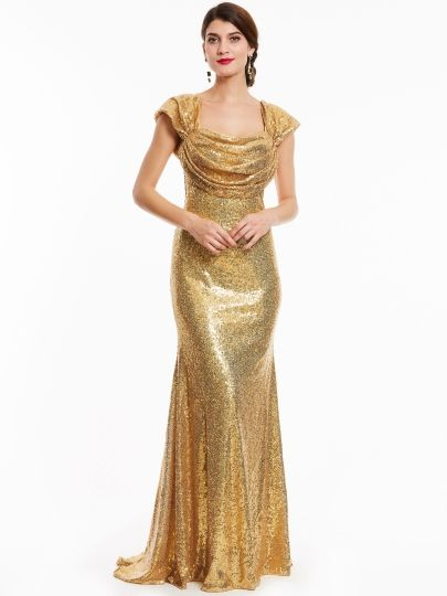Image result for yellow sheath evening dress