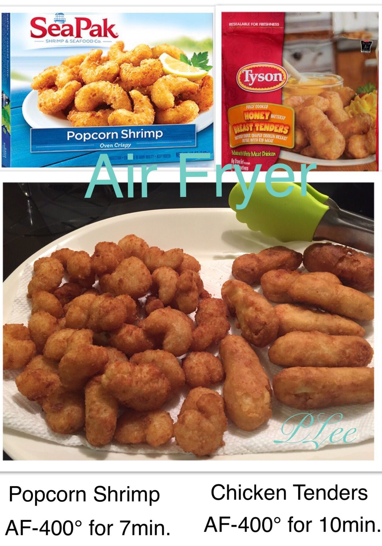 Air Fryer snack, Popcorn Shrimp & Chicken Tenders fast and