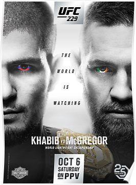 UFC 194 Aldo VS McGregor POSTER A5 A4 A3 A2