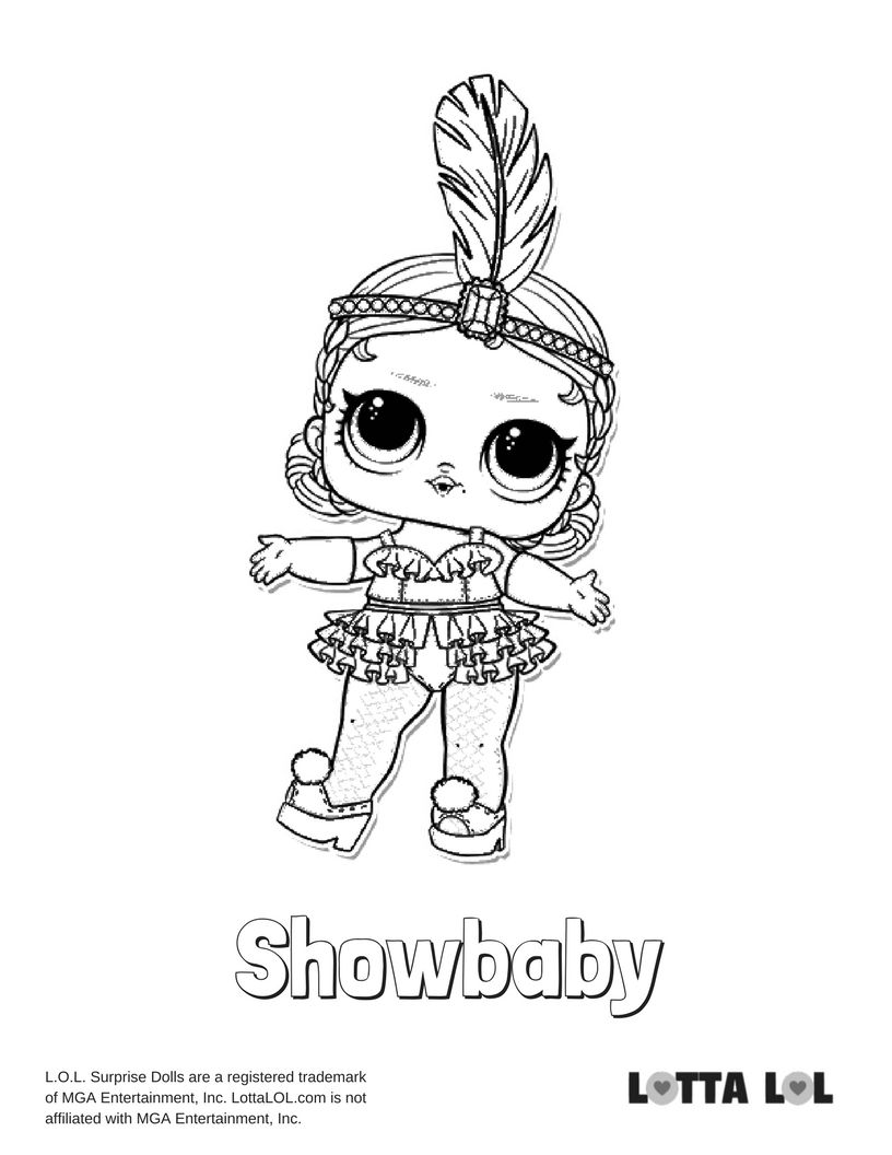 Showbaby Coloring Page Lotta LOL LOL Surprise Series 3