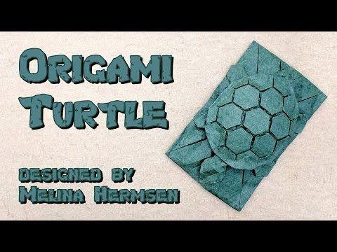 "Origami Tutorial: Tessellated Turtle ""Chelone"" (Melina ""Yureiko"" Hermsen) - YouTube"