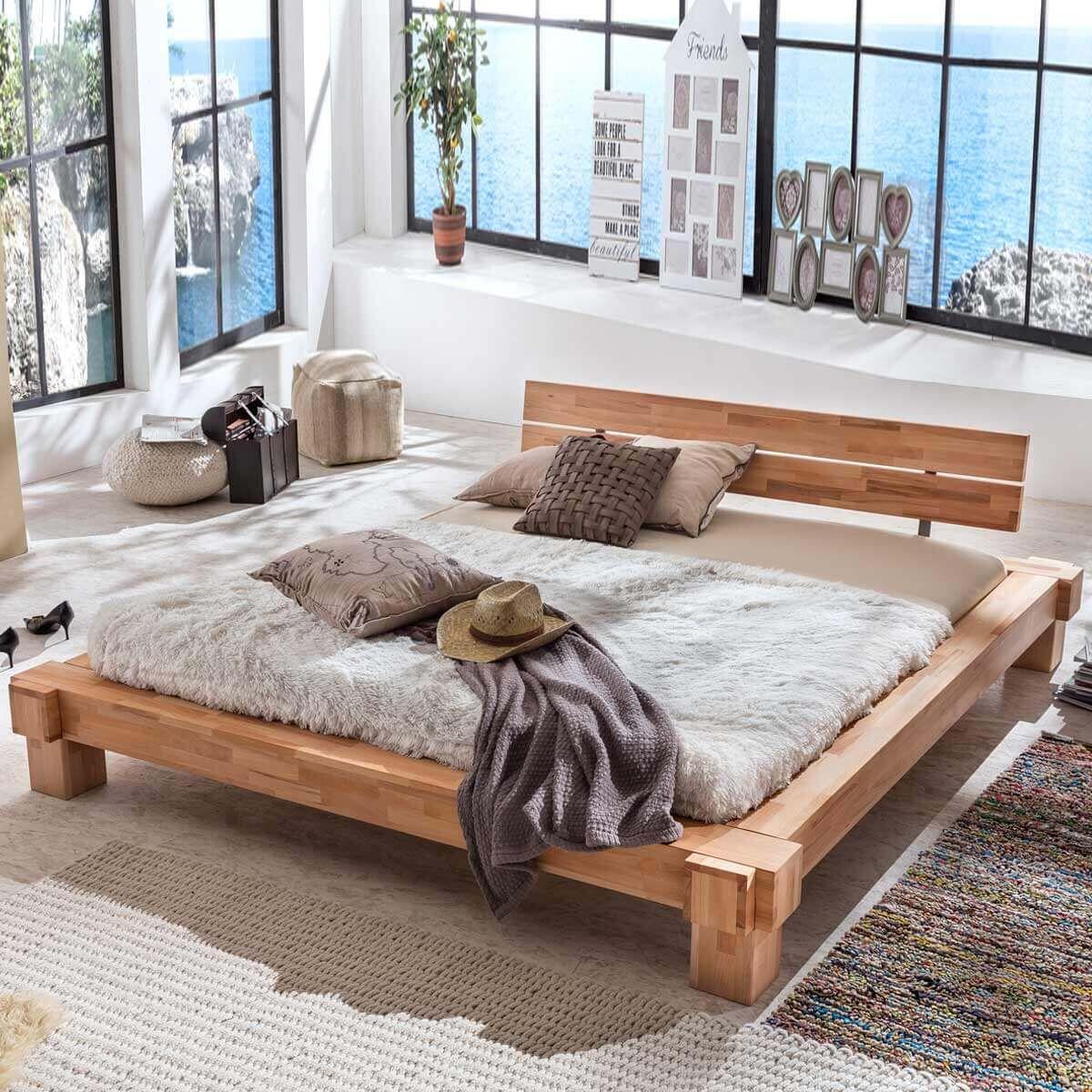 Bett Kopervik 140x200 In Kernbuche Massiv Geölt MÖbel Ideal Build Outdoor Furniture Pallet Furniture Outdoor Bed