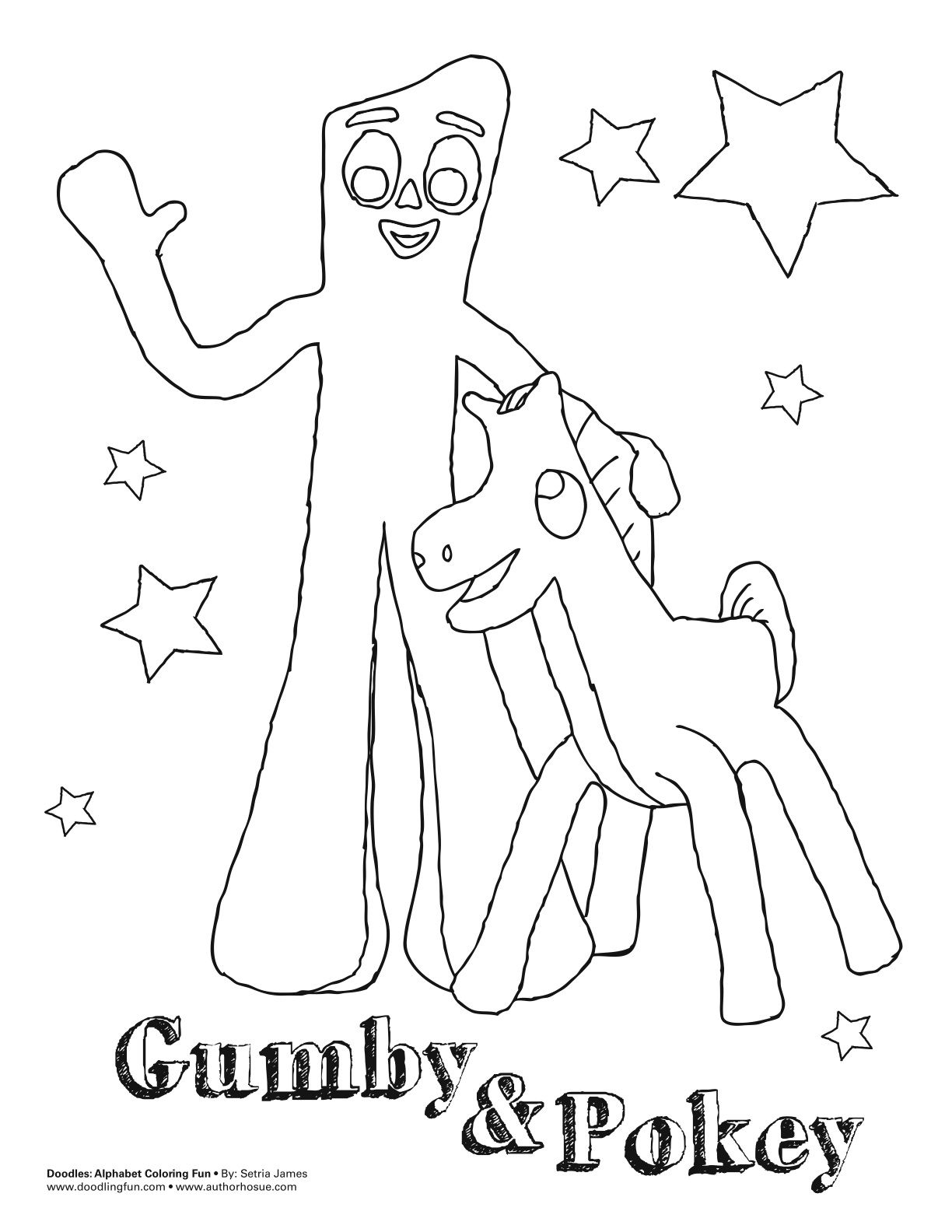 Gumby Coloring Sheet