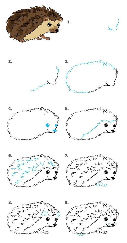 tiere malen und zeichnen  einfache anleitungen für kinder