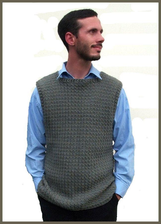 Download Now Crochet Pattern The Jared Vest Sizes Newborn Etsy Crochet Vest Pattern Knit Vest Pattern Crochet Vest