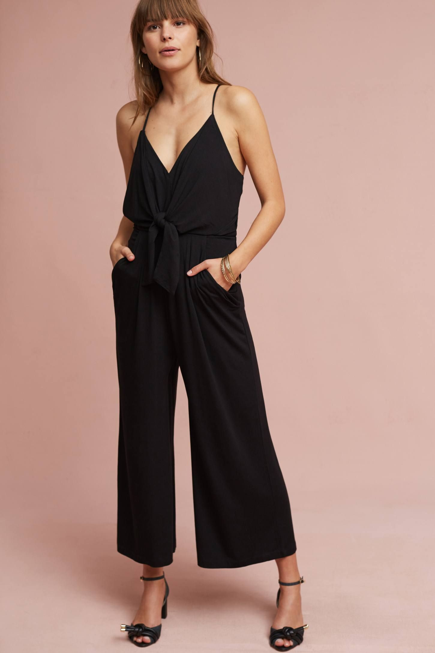 Shop the Willa Tie-Waist Jumpsuit and more Anthropologie at ...