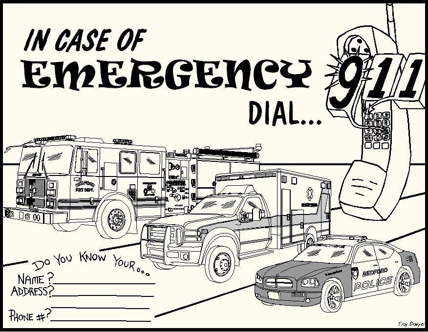 emergency phone list coloring pages - photo#23