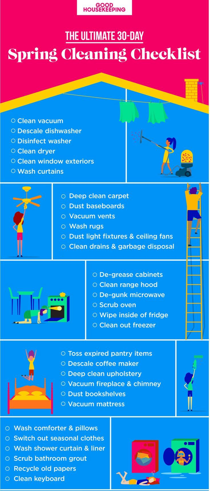 Weve broken spring cleaning down into 30 days so you can tackle one chore at a time then rel