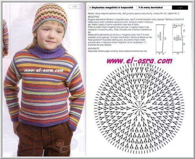 Gorro a crochet | Woven caps | Pinterest | Gorros