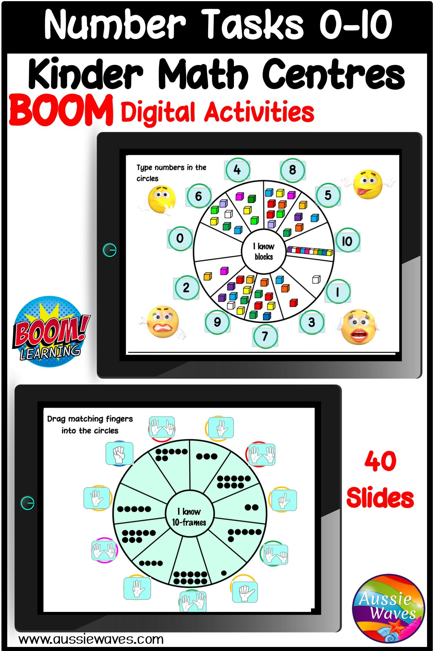 Kinder Math Wheels For Counting Numbers 0 10 In