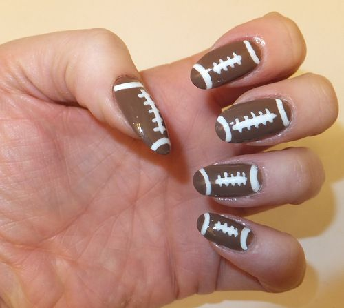 Football nail art · Photo Credit: Nailtrix - Photo Credit: Nailtrix 'NAIL POLISH & NAIL ART