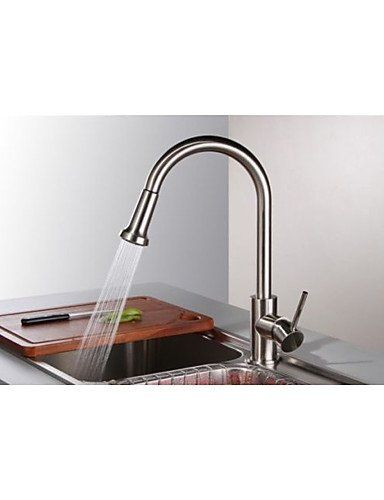 Royal Kitchen Sink Royal kitchen sink faucet brushed nickel finish single handle pull royal kitchen sink faucet brushed nickel finish single handle pull out mixer tap workwithnaturefo