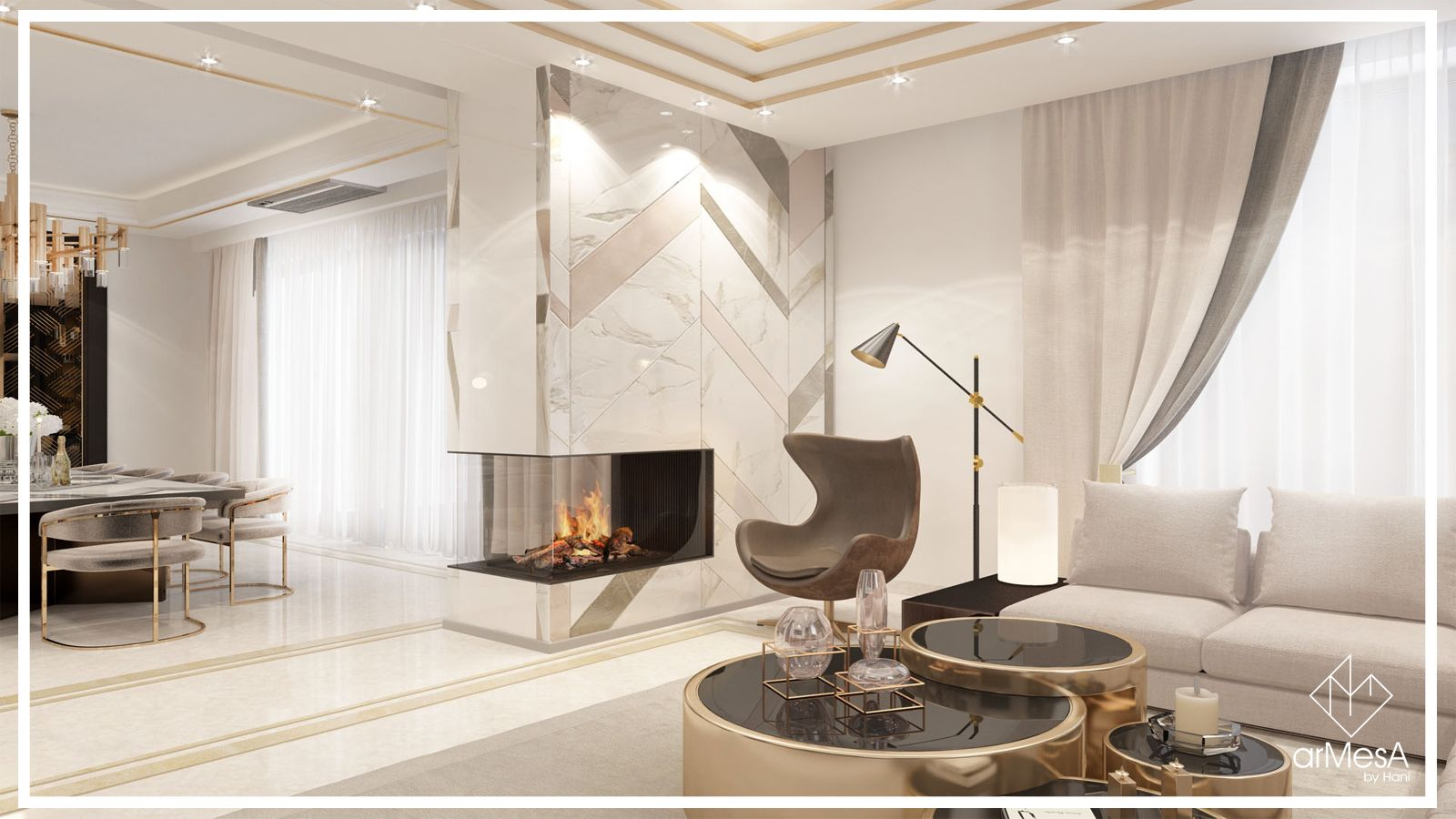 Luxurious Home Situated In Yerevan Designed By Armesa By Hani Art Deco Is One Of Those Design Styles That Defies The Pass Home Home Living Room Luxury Homes