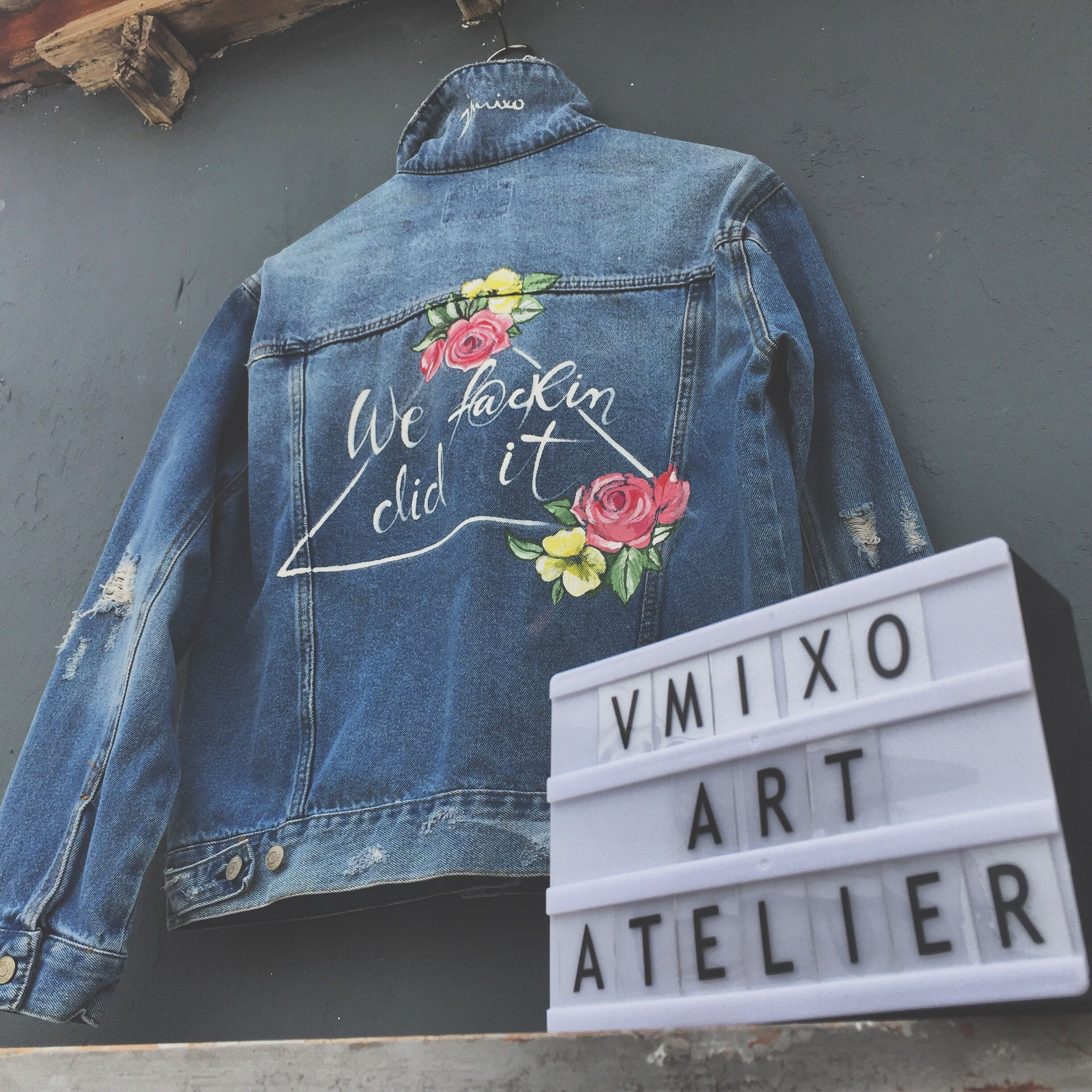 Pin On Jackets Handpainted
