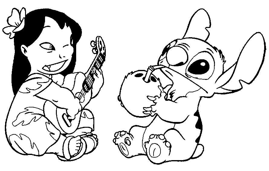 Lilo And Stitch Playing Guitar