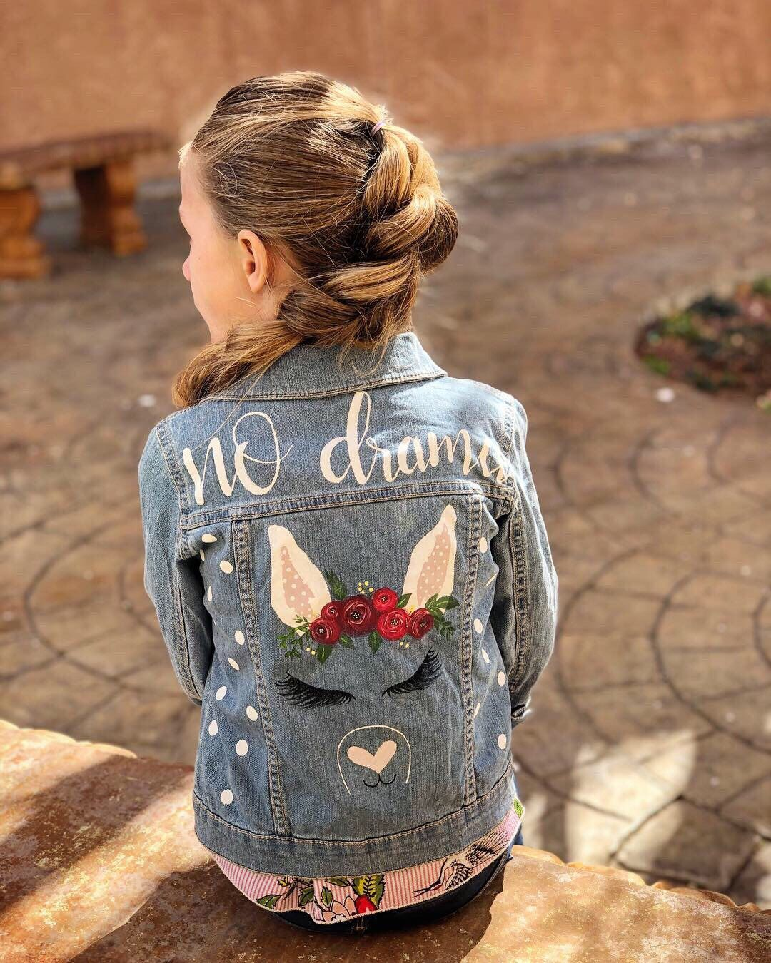 Excited To Share This Item From My Etsy Shop Hand Painted Denim Jacket Kids Denim Jacket Jean Ja Kids Denim Jacket Diy Denim Jacket Designer Denim Jacket [ 1350 x 1080 Pixel ]