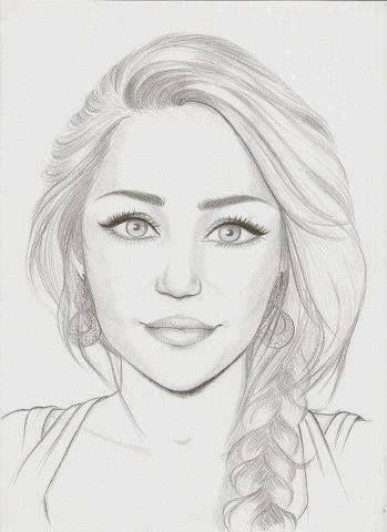 Miley Cyrus Drawn Pinterest Gesichter Zeichnen Ideen Furs
