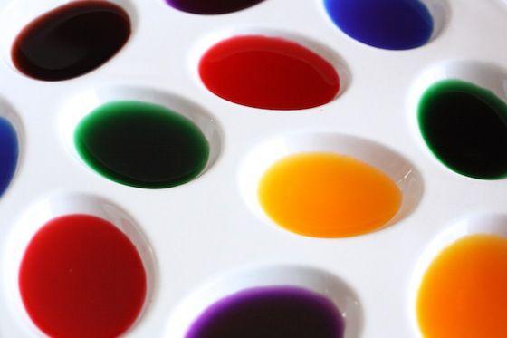Bandeja de pinturas de acuarela caseros líquida