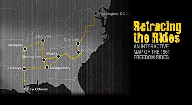 Cool Interactive Map On The Freedom Riders Of The Civil Rights - Interactive map protests us