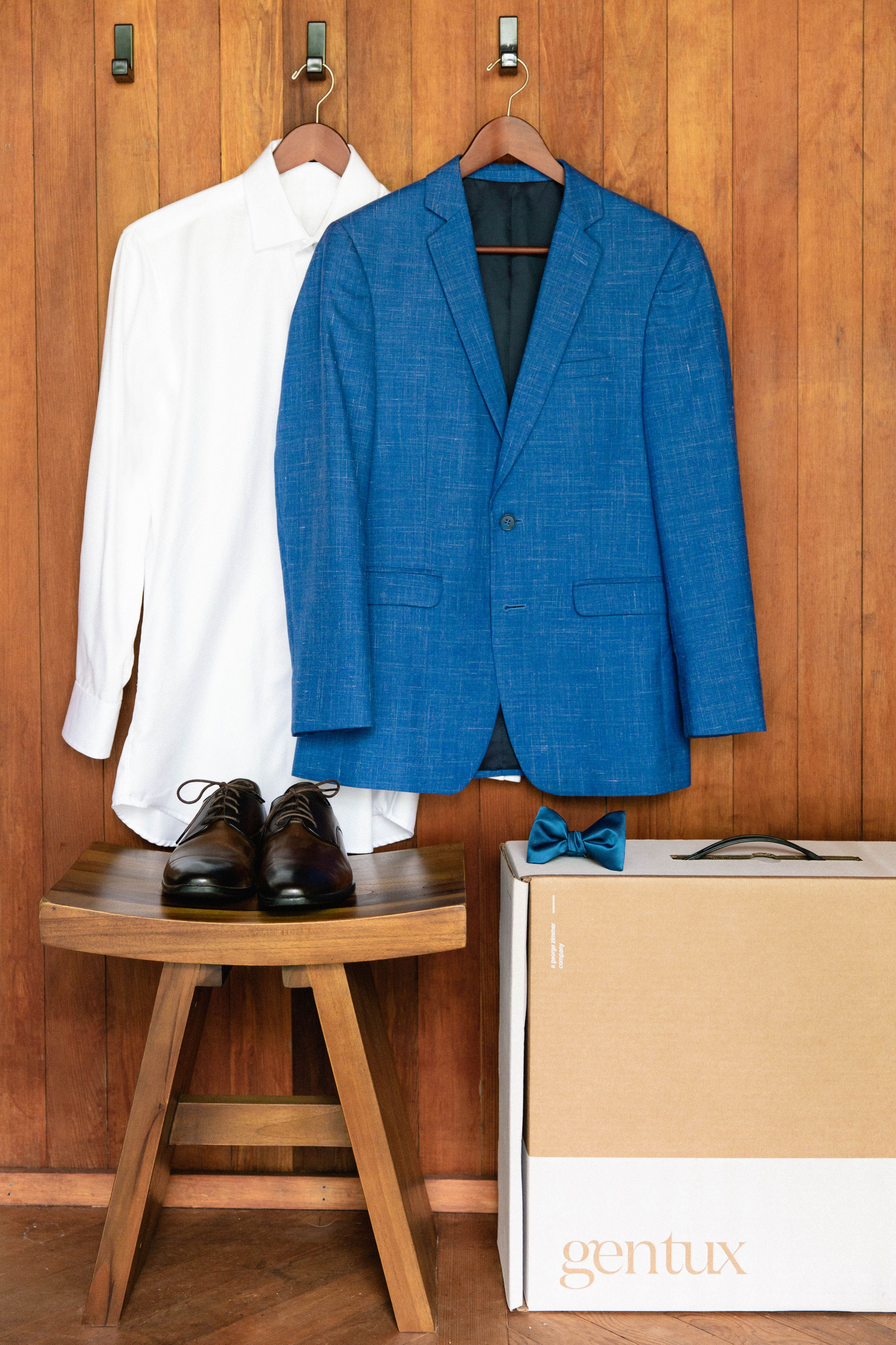 Indigo Blue Notch Lapel Suit | Something Blue (and borrowed ...