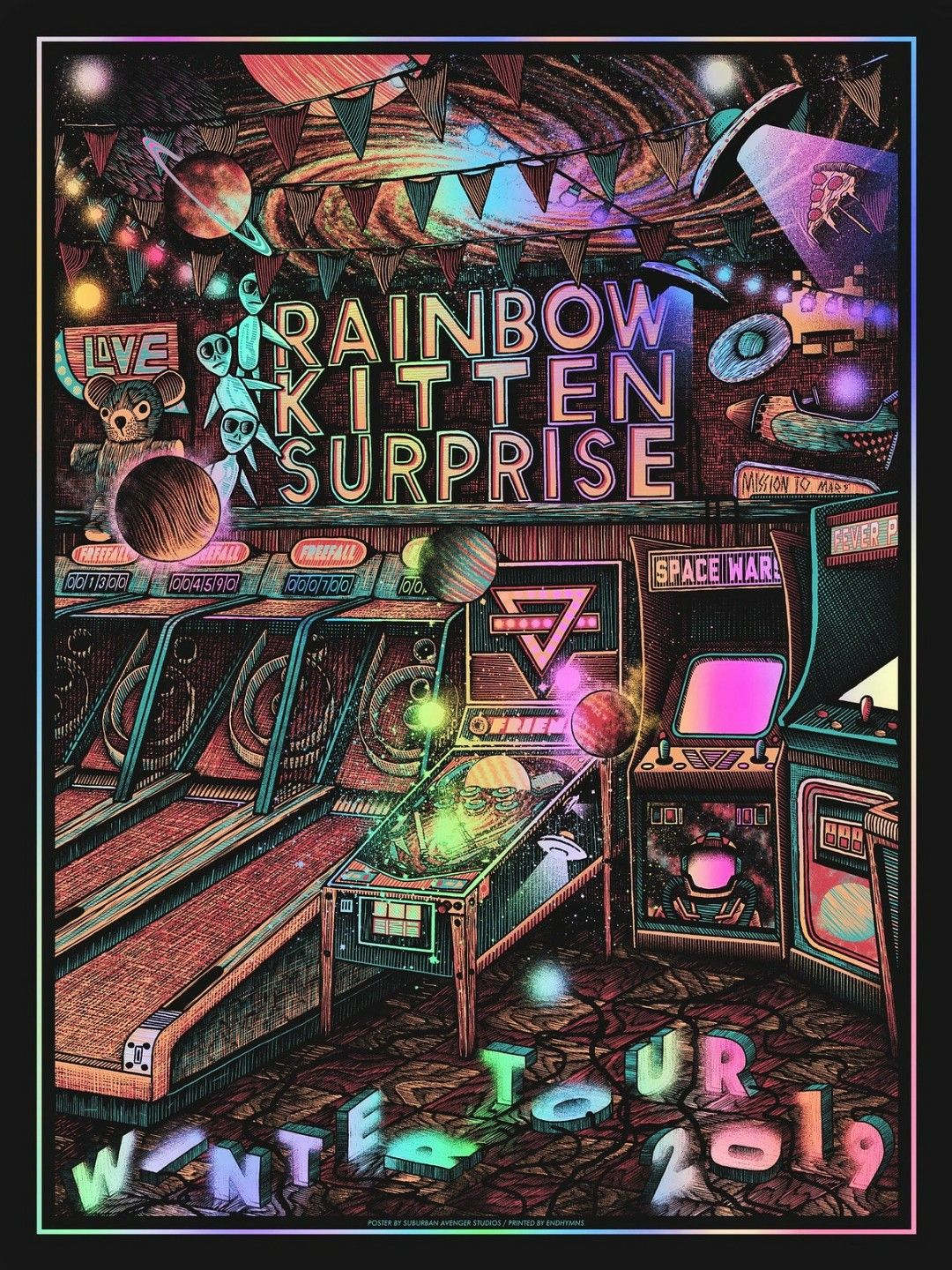 Poster Art For Rainbow Kitten Surprise Concert Poster Art Rainbow Kitten Surprise Rainbow Kittens
