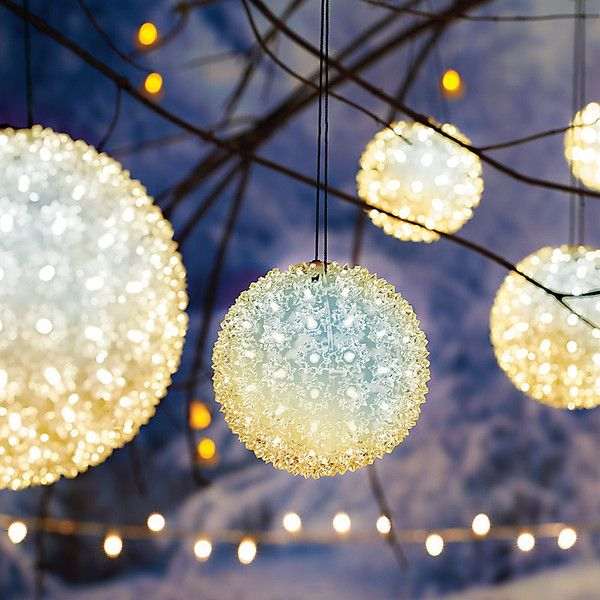 Improvements starlight twinkling sphere 10 50 liked on improvements starlight twinkling sphere 10 50 liked on polyvore featuring home led christmas lightsoutdoor workwithnaturefo
