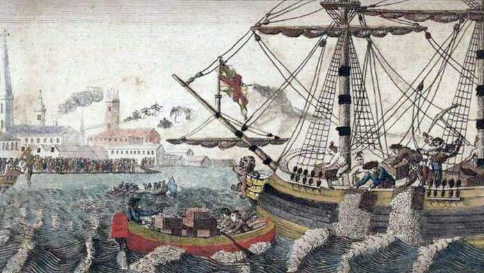 "The Boston Tea Party (initially referred to by John Adams as ""the Destruction of the Tea in Boston""was a political protest by the Sons of Liberty in Boston, on December 16, 1773. The demonstrators, some disguised as American Indians, destroyed an entire shipment of tea sent by the East India Company, in defiance of the Tea Act of May 10, 1773."