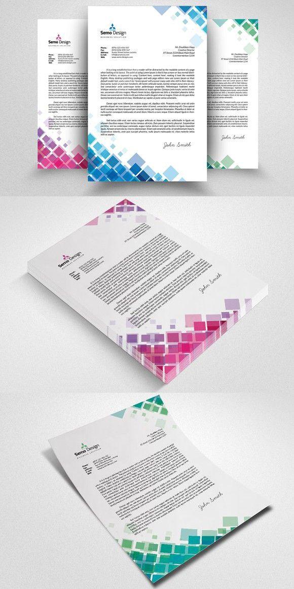 Business Letterhead Template. Creative Business Card Templates ...