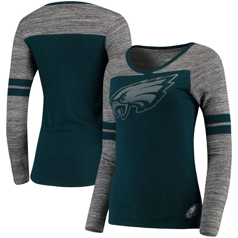 super popular c6144 d75bd Nike Philadelphia Eagles Helmet Tri Blend T Shirt Black ...