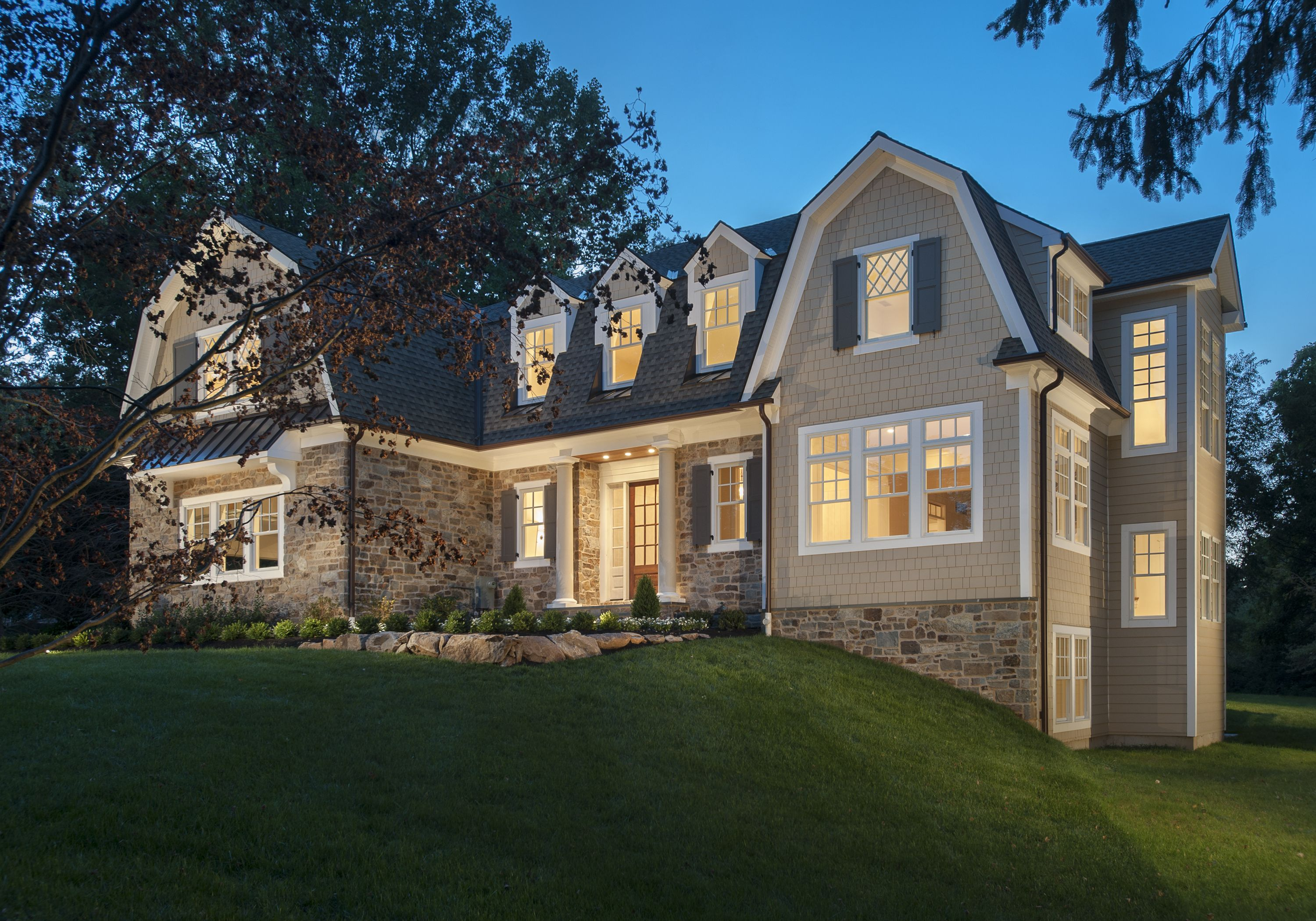Completed Nantucket Style Home at Millbrook Rd. (2014) by Weiss & Associates, LLC (Radnor, PA)
