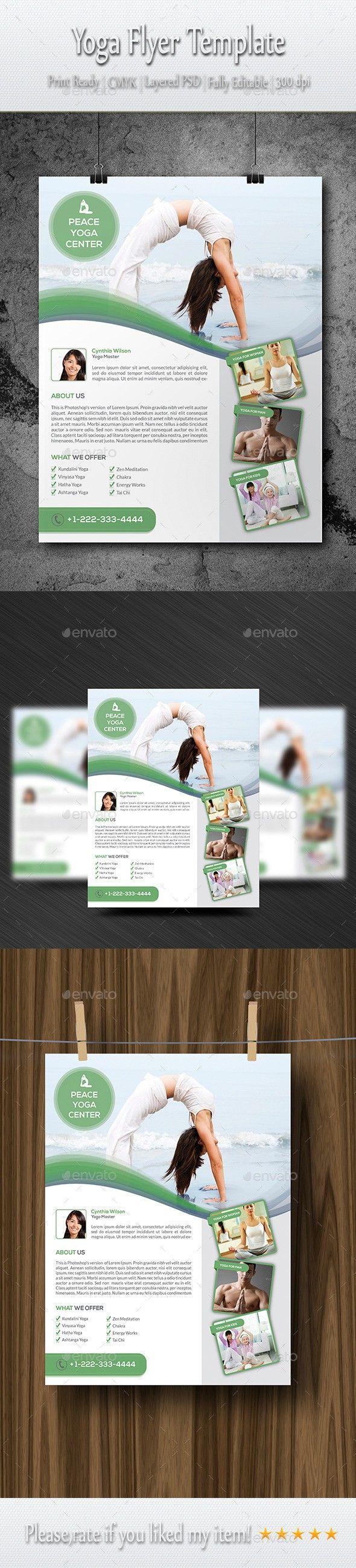 Yoga Flyer Template Pinterest Flyer Template Flyer Design