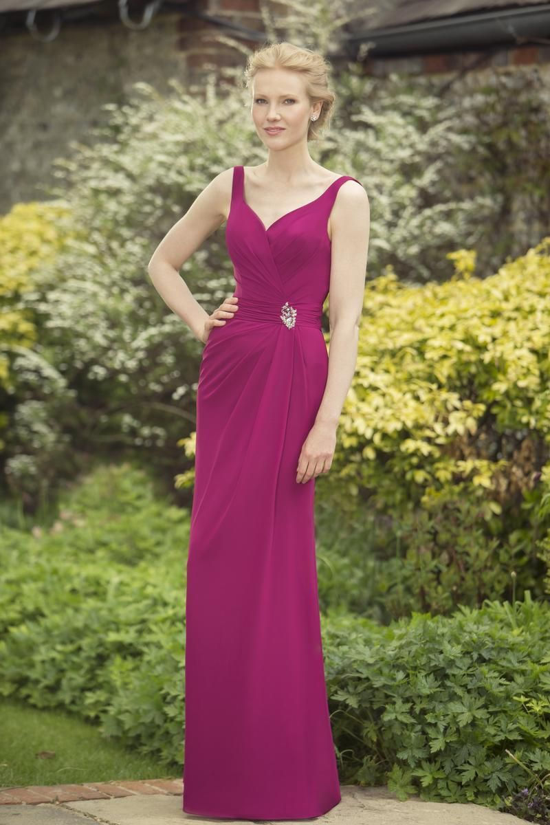 M697 - New to the True Bridesmaid collection is this elegant chiffon ...