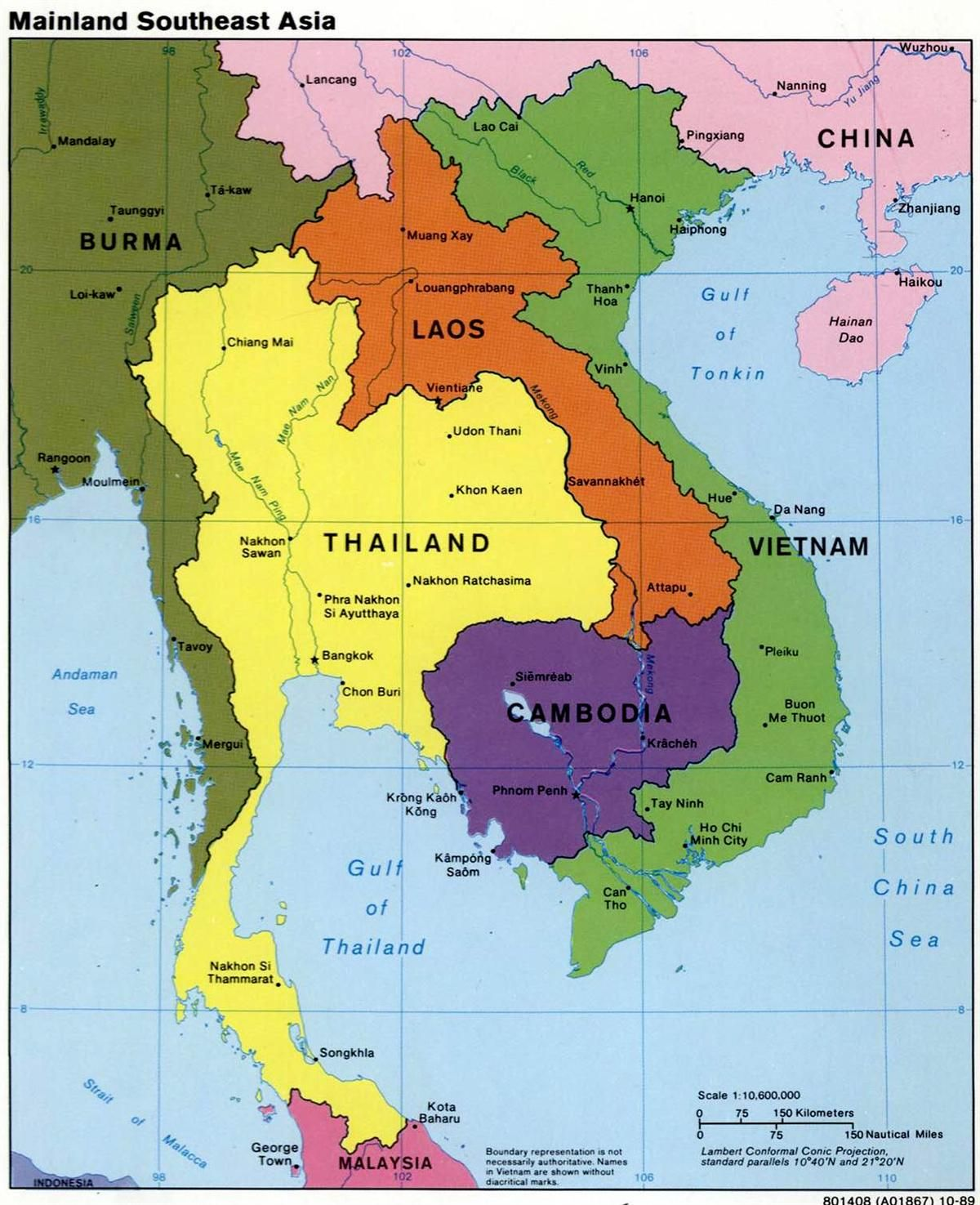 Southeast Asia Map | Laos, Cambodia map, Asia map