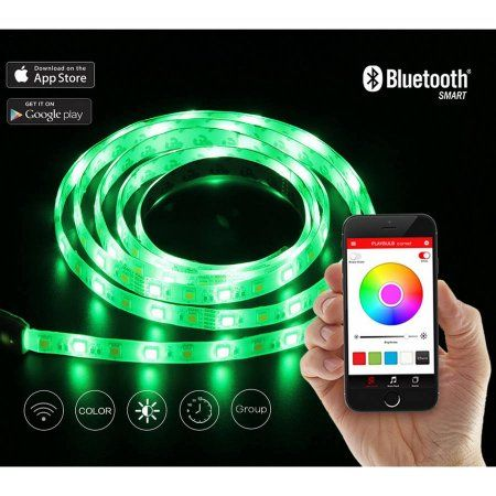 Led Light Strips Walmart Playbulb Comet Smart Rgb Colored Led 7' Strip Light With App Control
