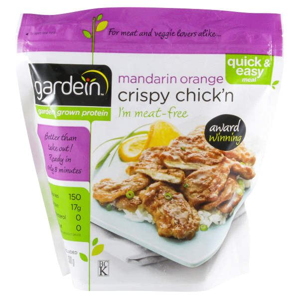 Gardein Mandarin Orange Crispy Chickn 10 5 Oz Frozen Meals Easy Meals Vegetarian Recipes