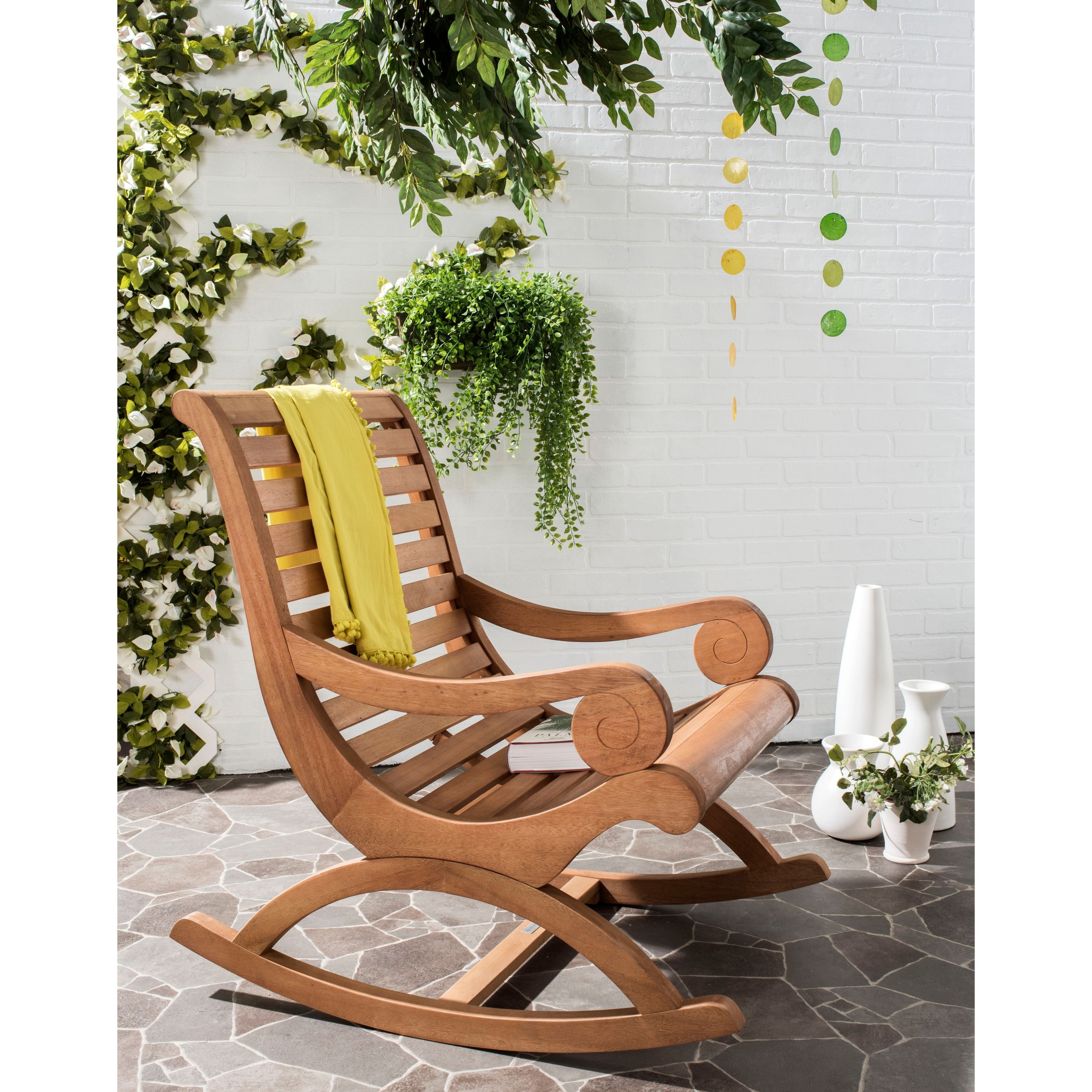 Safavieh Outdoor Living Sonora Brown Rocking Chair Pat7016b Patio