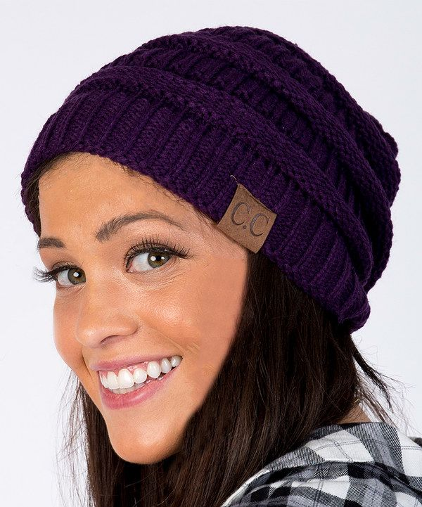 Look at this Purple Slouch Beanie on #zulily today!