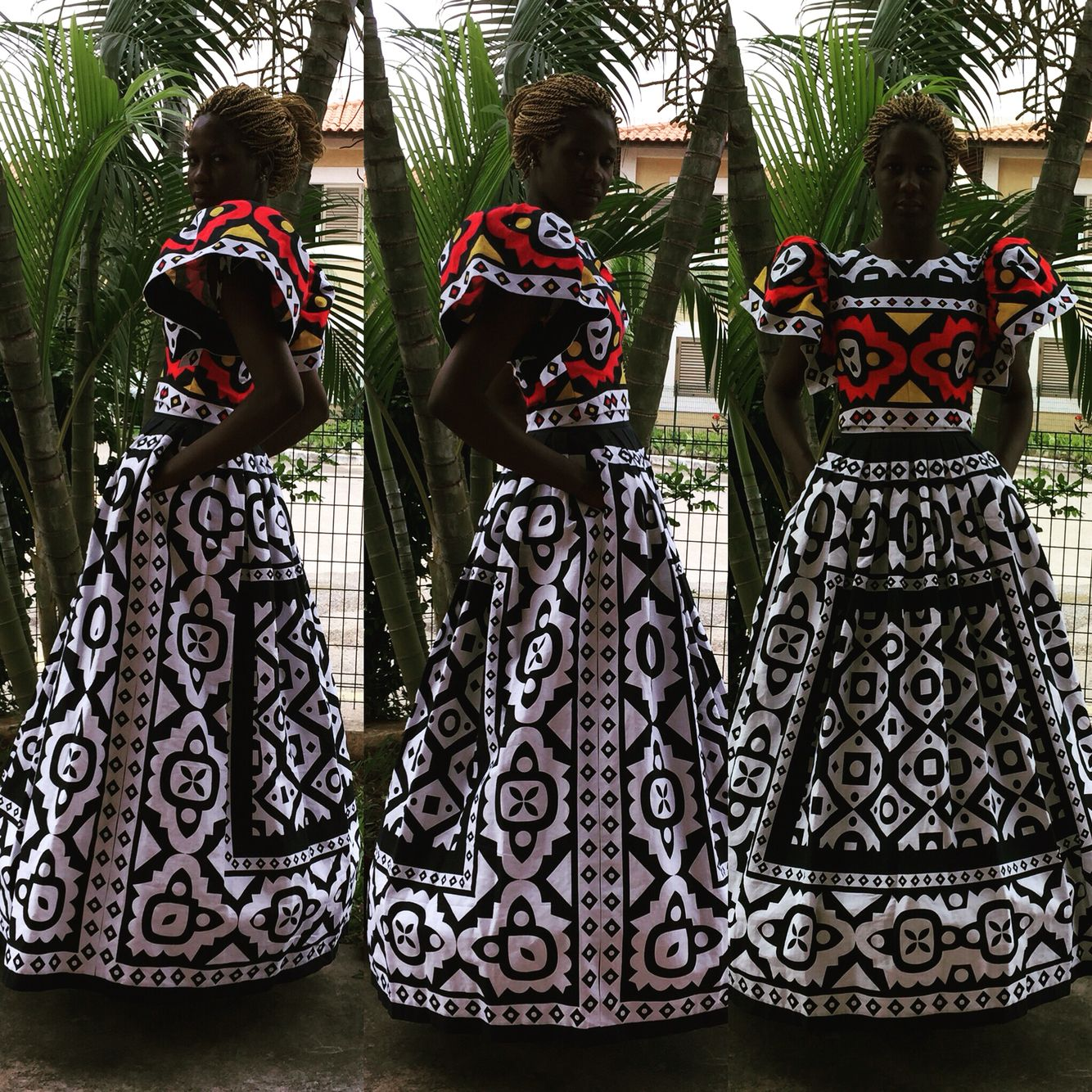 #Angola #fashion # AfricaSet in Samacá, Angolan traditional fabric. #LisetePote design