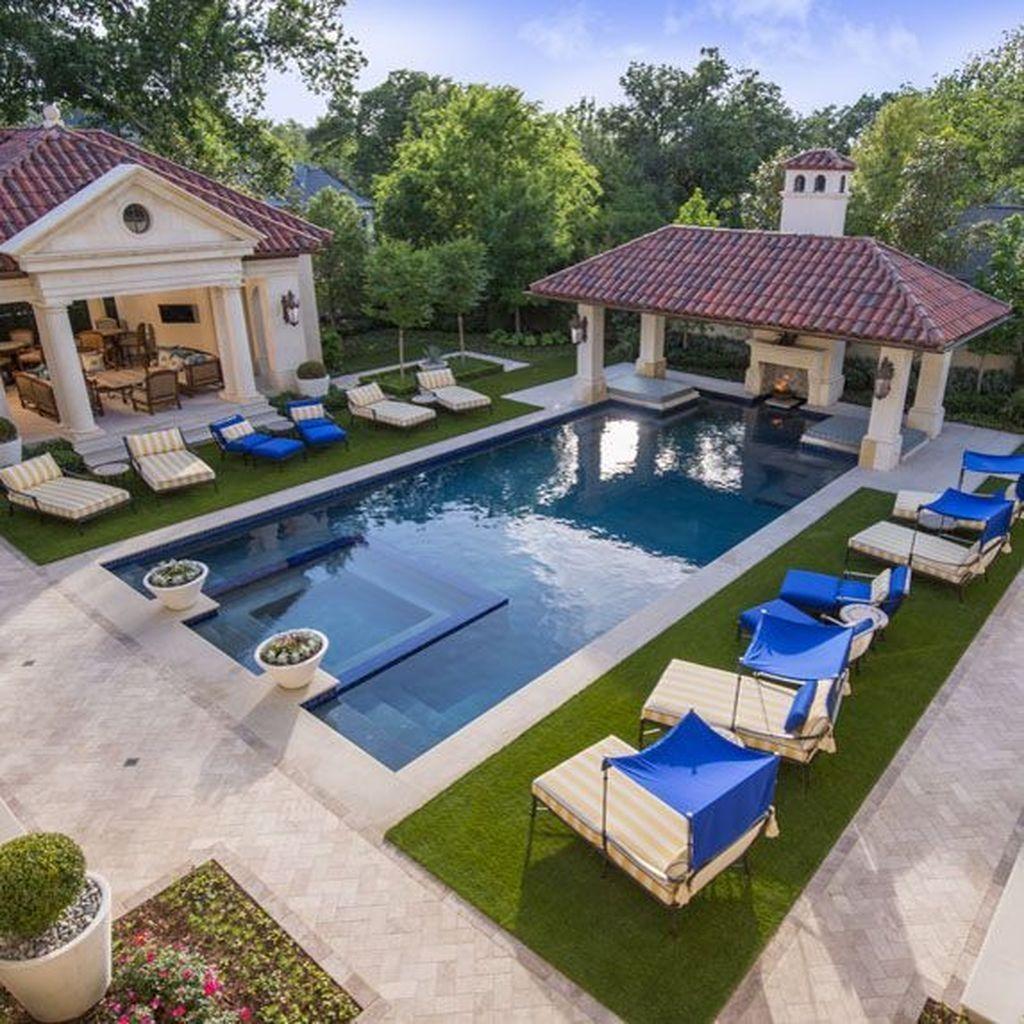 50 The Best Mediterranean Swimming Pool Design Sweetyhomee Indoor Pool Design Luxury Swimming Pools Pool House Designs