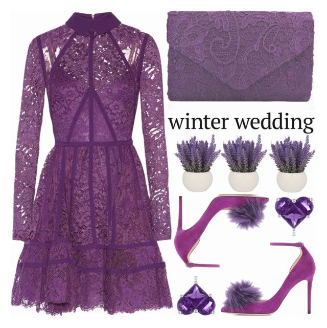"""True Romance: Winter Wedding"" by shoaleh-nia ❤ liked on Polyvore featuring Elie Saab, Jimmy Choo and Effy Jewelry"