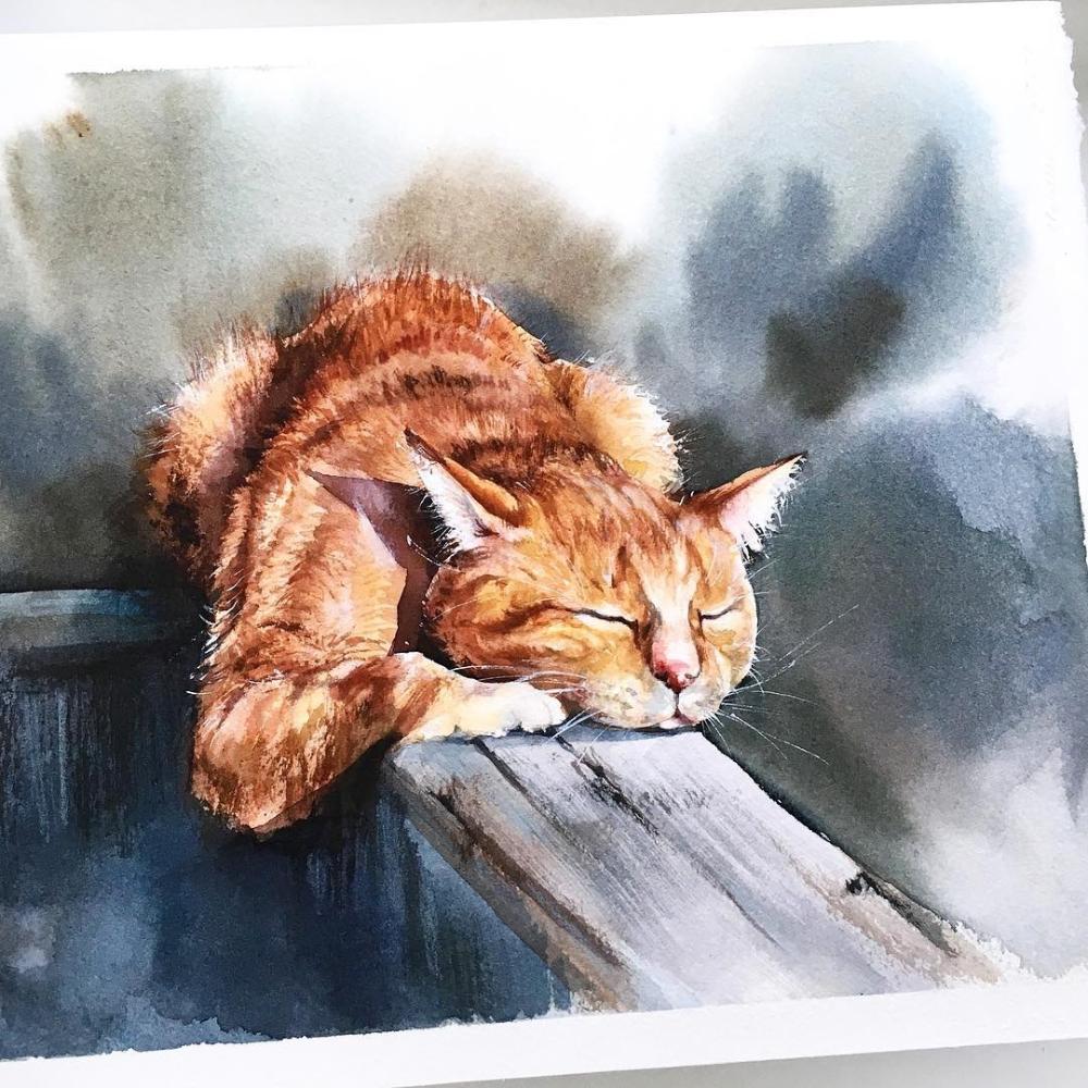 "Watercolor illustrations 🎨 on Instagram: ""🎨 Watercolorist: @astatnyh ⠀ #waterblog #акварель #illustration #watercolor #art #иллюстрация #рисую #aquarella #творчество #какрисовать…"""