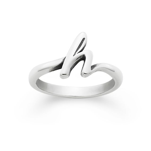 Silver initial ring, James avery rings